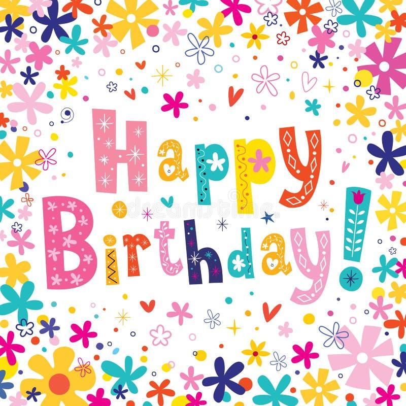 Happy Birthday greeting card. Design vector illustration