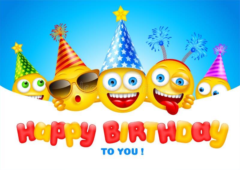 Happy Birthday Greeting Card royalty free illustration