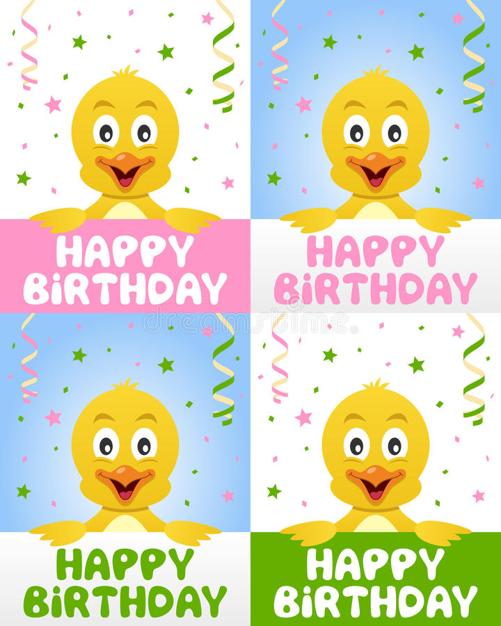 Download Happy Birthday Cute Chick stock vector. Illustration of party - 29773250