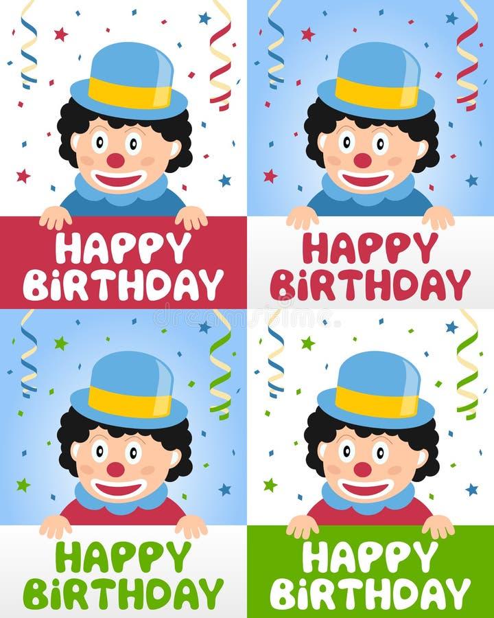 Happy Birthday Little Clown Royalty Free Stock Photo