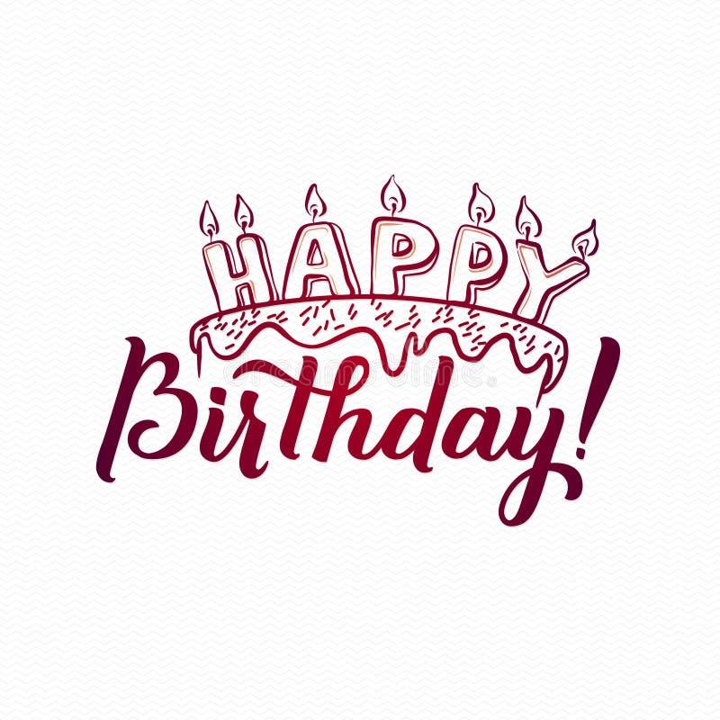 Happy birthday greeting card hand lettering handmade