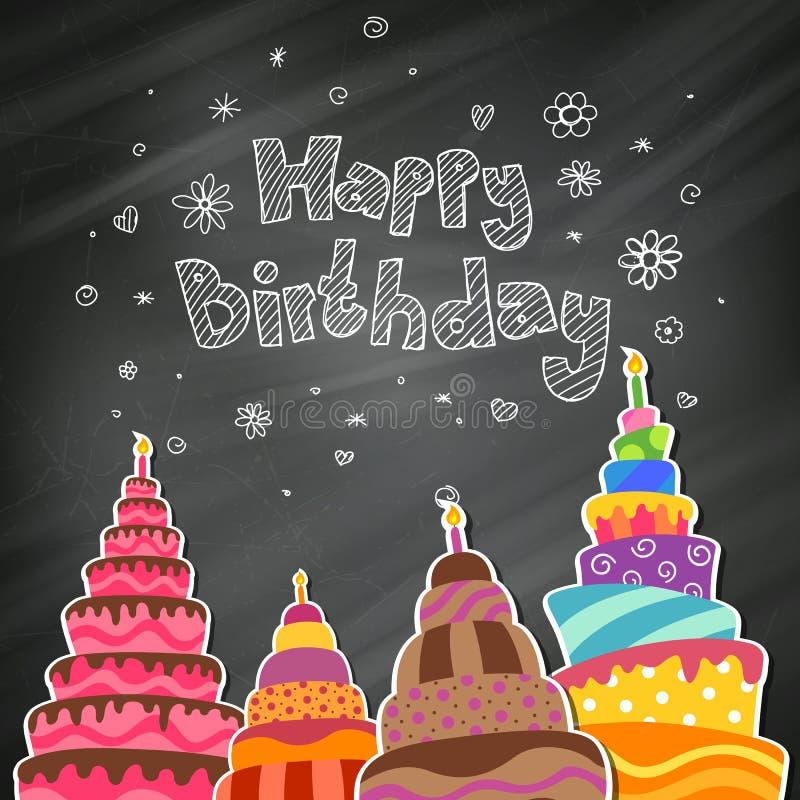 Happy Birthday Greeting Card. Illustration of a Happy Birthday Greeting Card royalty free illustration