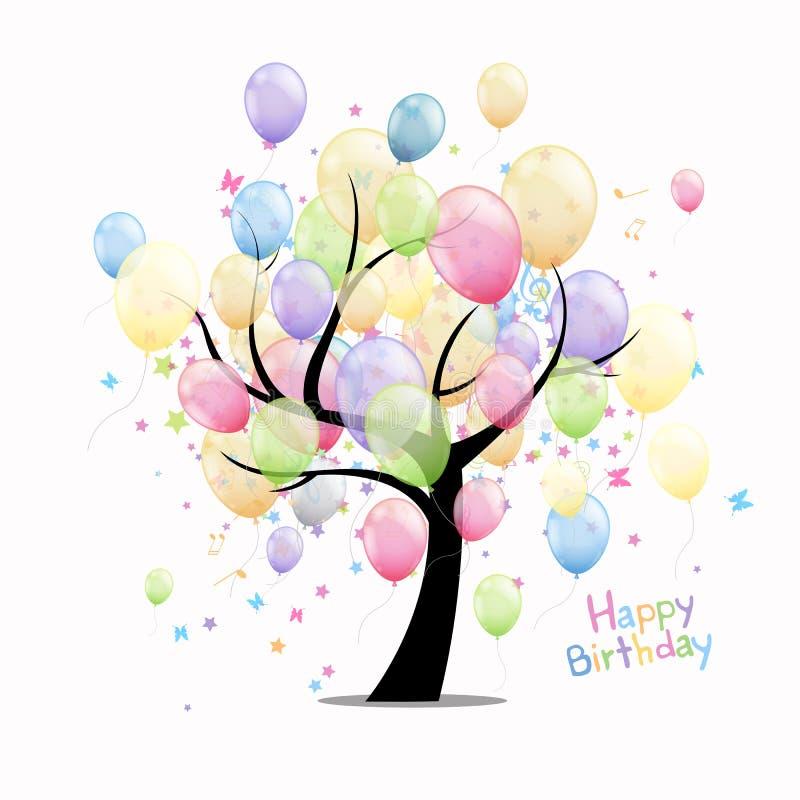 Happy Birthday Greeting Card stock illustration