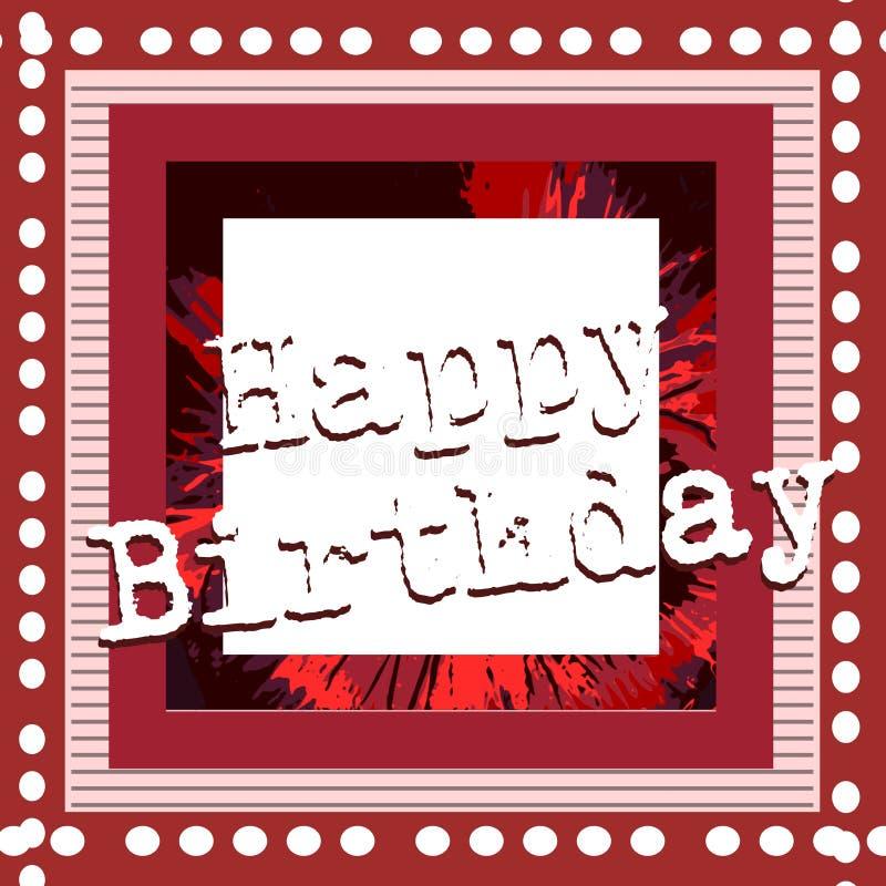 Colorful Happy Birthday Greeting Card Stock Illustration