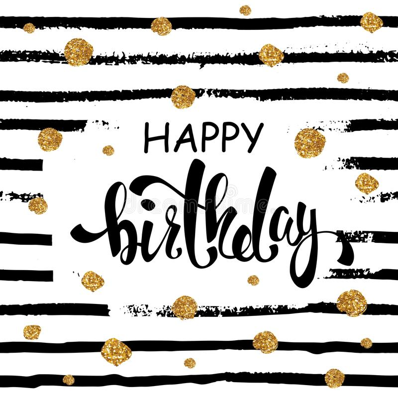 Happy Birthday greeting card, poster, placard. Happy Birthday graphic design for different uses vector illustration