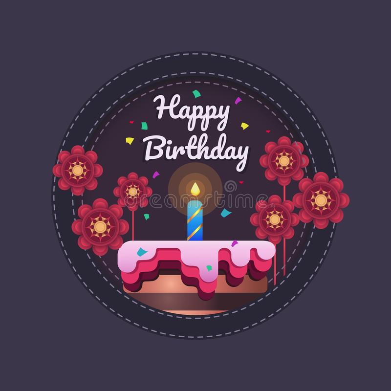 Happy birthday greeting card template design stock images