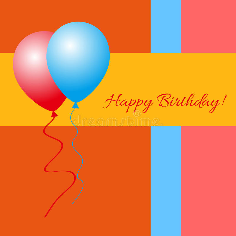 Happy Birthday! - Greeting Card. Vector happy Birthday greeting card royalty free illustration