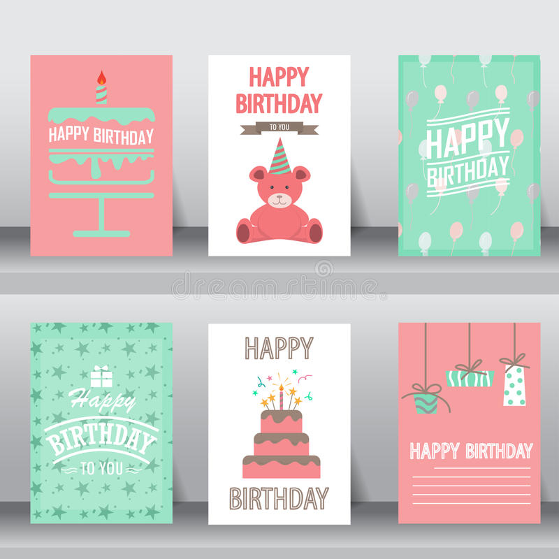 Free Happy Birthday Greeting Card, Vector Royalty Free Stock Image - 66863936