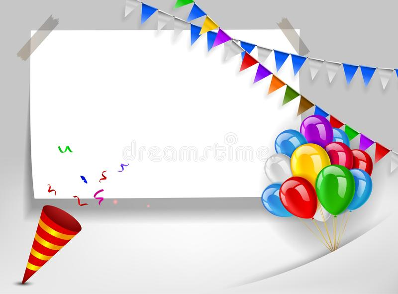 Happy birthday greeting card. Vector Illustration of Happy birthday greeting card stock illustration