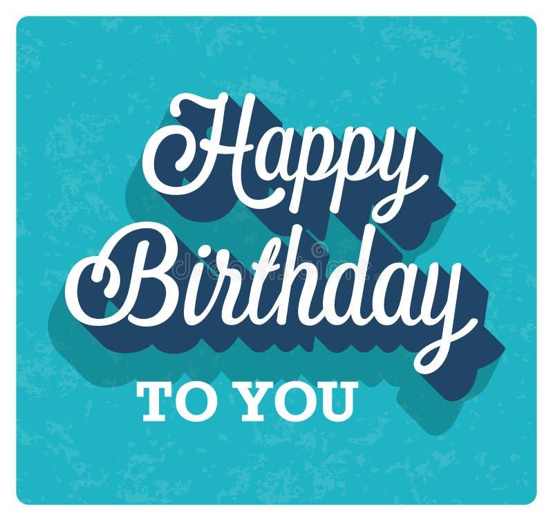 Happy Birthday greeting card. Vector illustration stock illustration