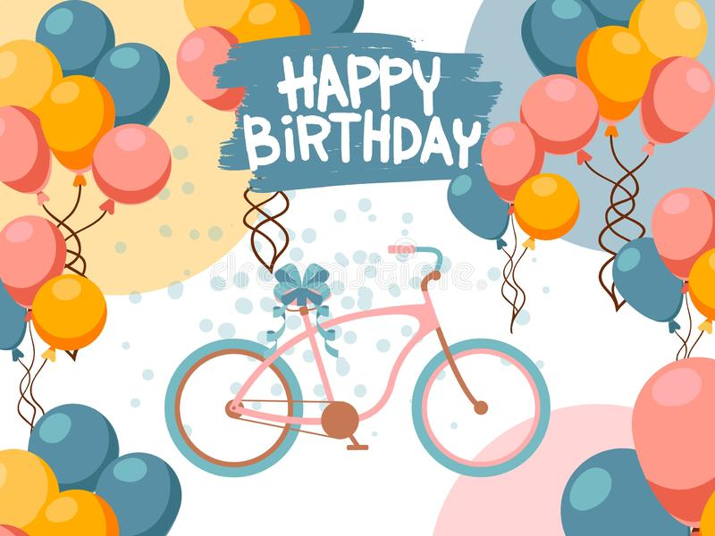 Birthday Greeting Card  NEW BIRTHDAY Elephant Trunk Hearts  Balloons Party Hat