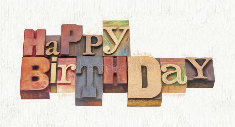 birthday greeting word