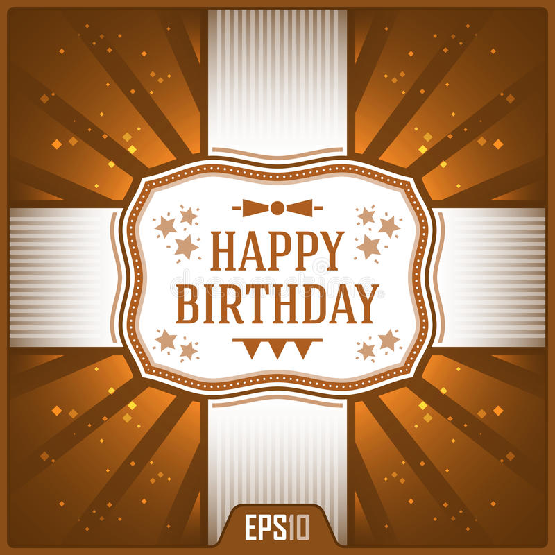 Happy Birthday Greeting Cards. Vector Elements. Celebration Ribbon Illustration. Happy Birthday Greeting Cards. Vector Elements. Celebration Ribbon Illustration royalty free illustration