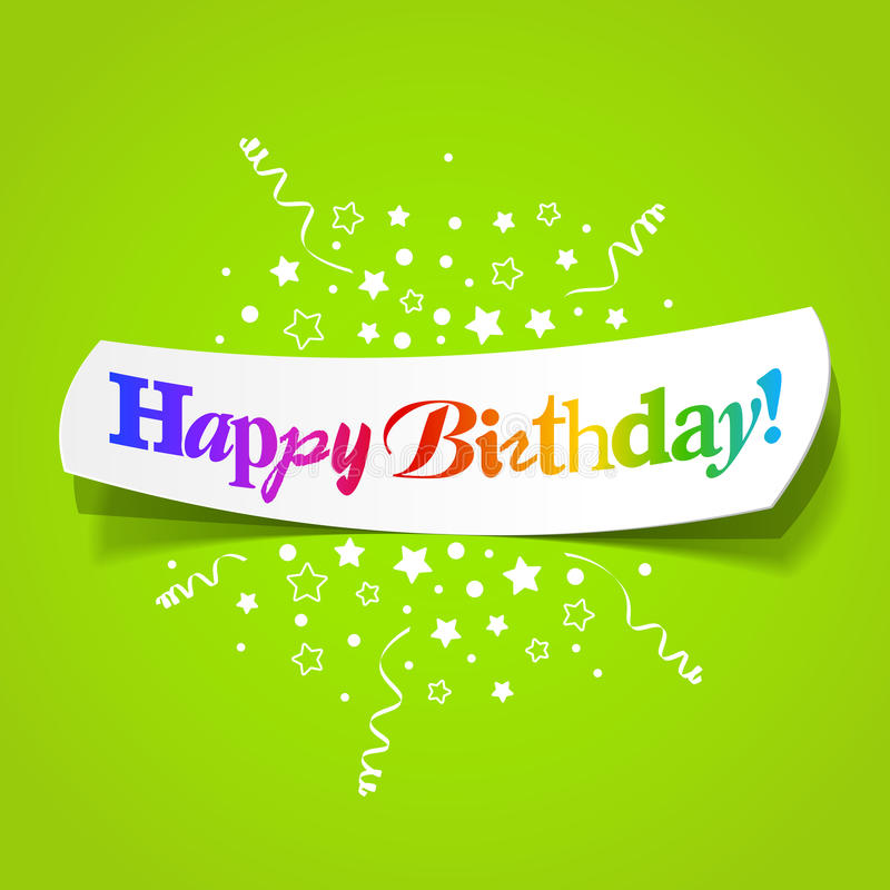Happy Birthday Greetings Stock Vector. Illustration Of
