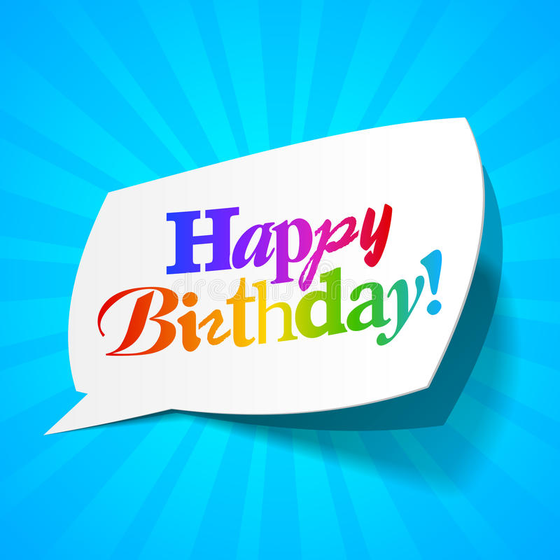 Download Happy Birthday - Greetings Bubble Stock Vector - Image: 21361595