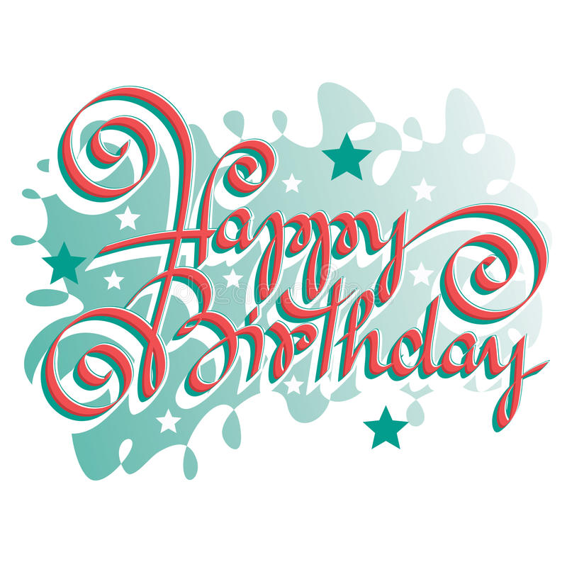 HAPPY BIRTHDAY Hand Lettering Stock Vector