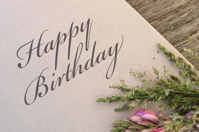 Happy Birthday. Flower card congratulations royalty free stock images