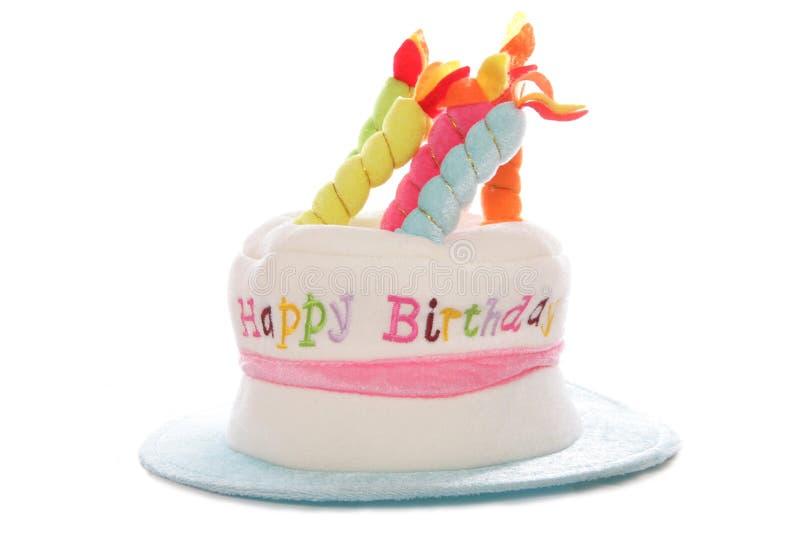 Happy birthday hat. Studio cutout stock image