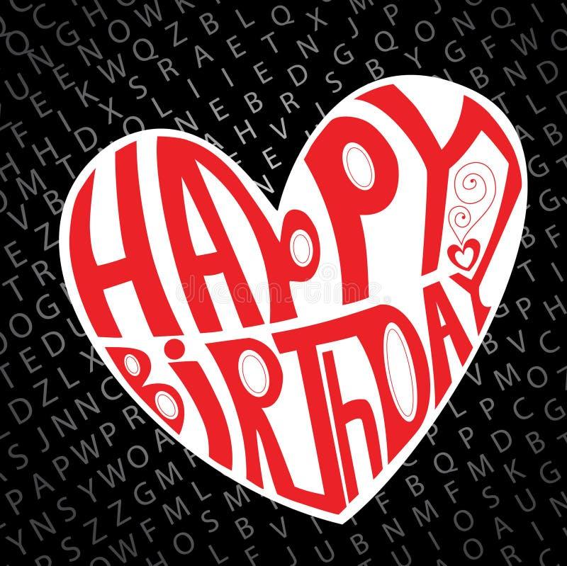 Download Happy birthday heart stock vector. Image of love, celebrate - 16513694