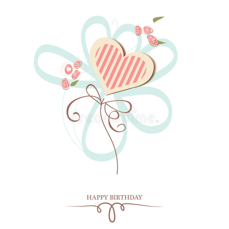 Happy Birthday Heart Royalty Free Stock Photography