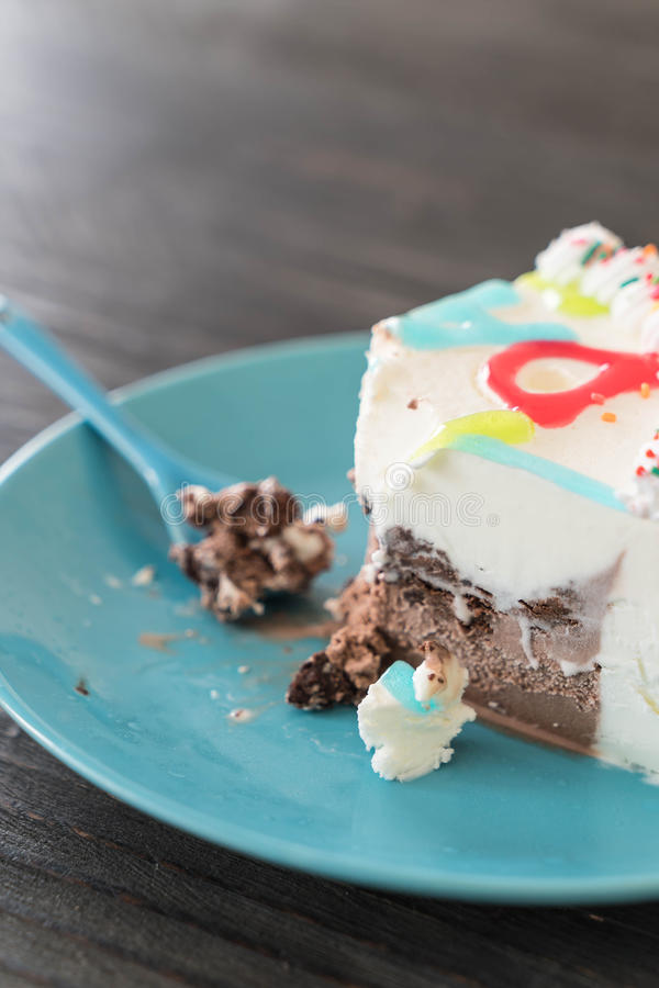 Happy Birthday Ice Cream Cake Stock Photo Image Of Vanilla