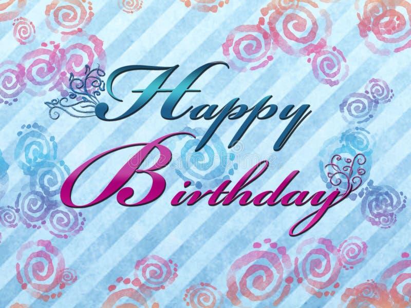 Happy Birthday Illustration royalty free stock images