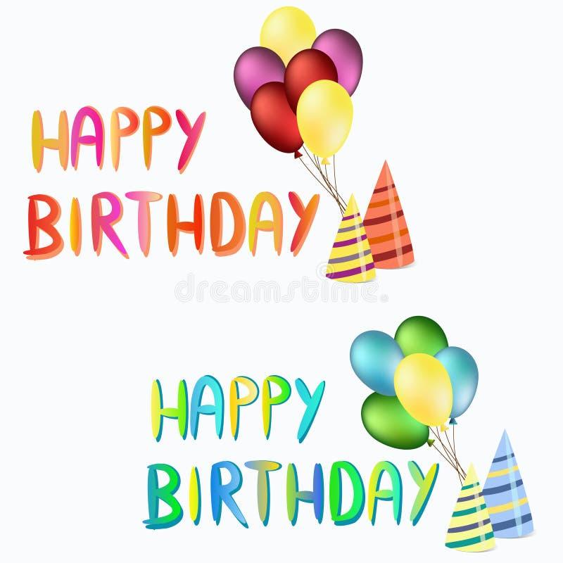 Happy birthday illustration stock image