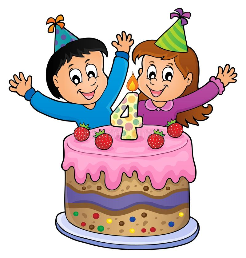 Free Happy Birthday Image For 4 Years Old Royalty Free Stock Image - 103841726