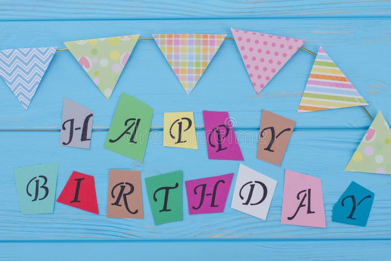 Happy Birthday inscription from colorful letters. stock images