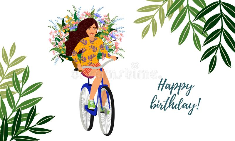 Happy Birthday Bicycle Stock Illustrations 994 Happy Birthday Bicycle Stock Illustrations Vectors Clipart Dreamstime