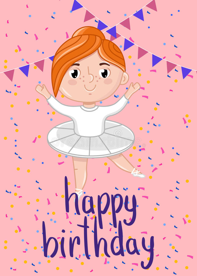 Happy Birthday Kids Postcard Template Stock Vector - Illustration of ...