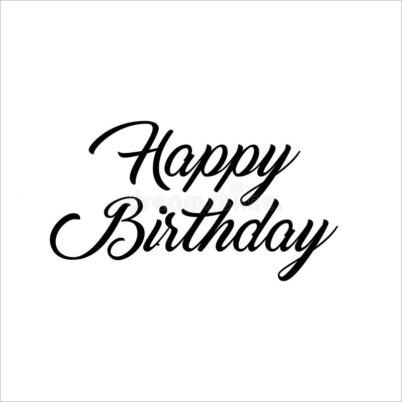 Happy Birthday letter Text Calligraphy vector illustration