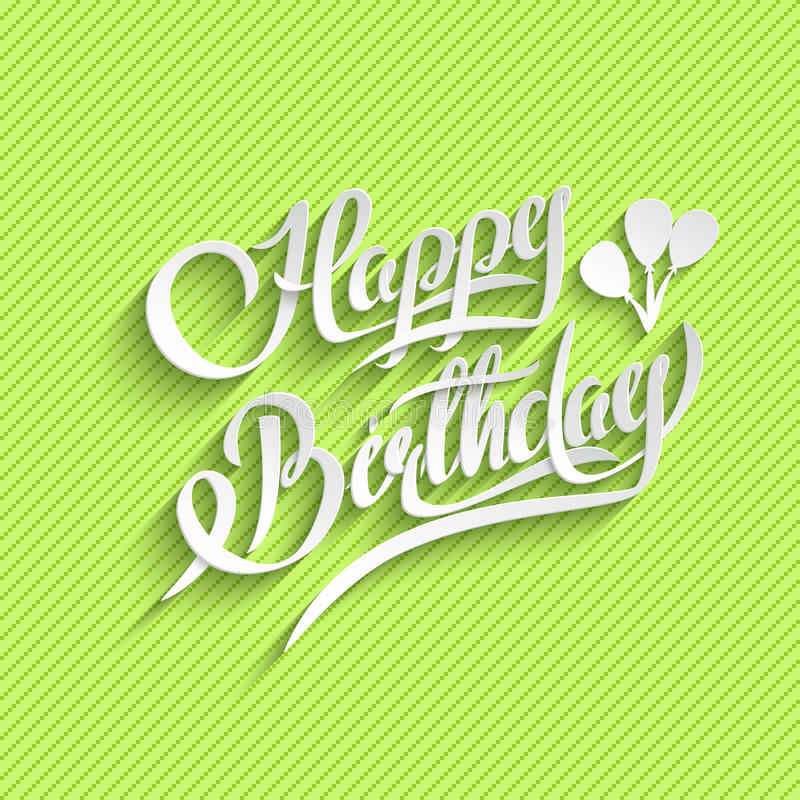 Happy Birthday Lettering Greeting Card stock illustration