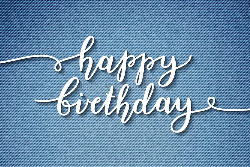 Happy birthday lettering. Happy birthday, lettering, greeting card template vector illustration