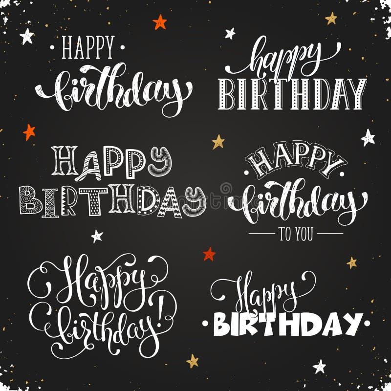 Happy birthday lettering royalty free stock photos