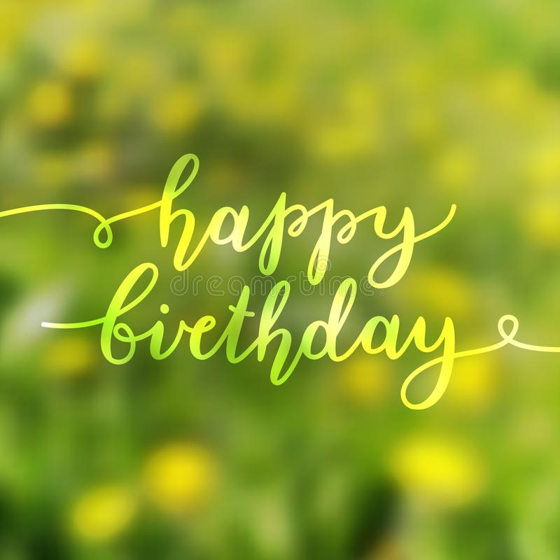 Happy birthday lettering stock photo