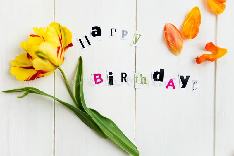 Happy Birthday Letters royalty free stock image