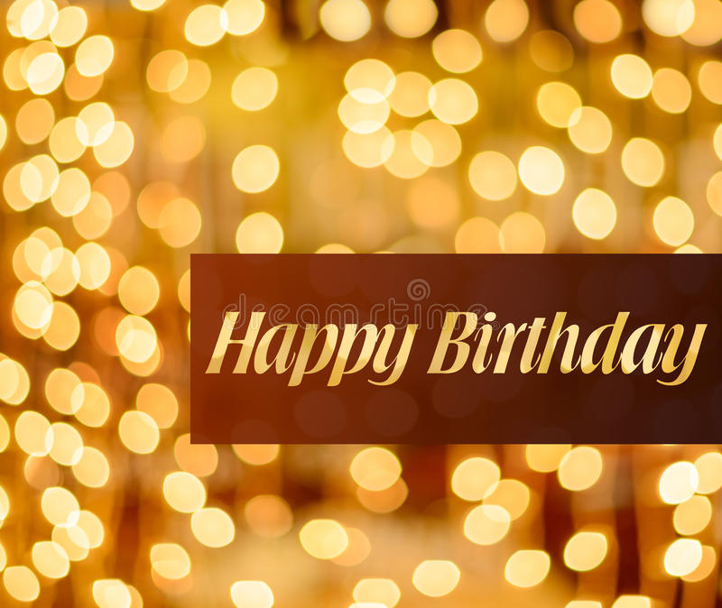 Happy birthday lighted background stock photography