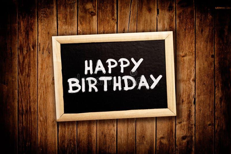 Happy birthday. On message board stock photos