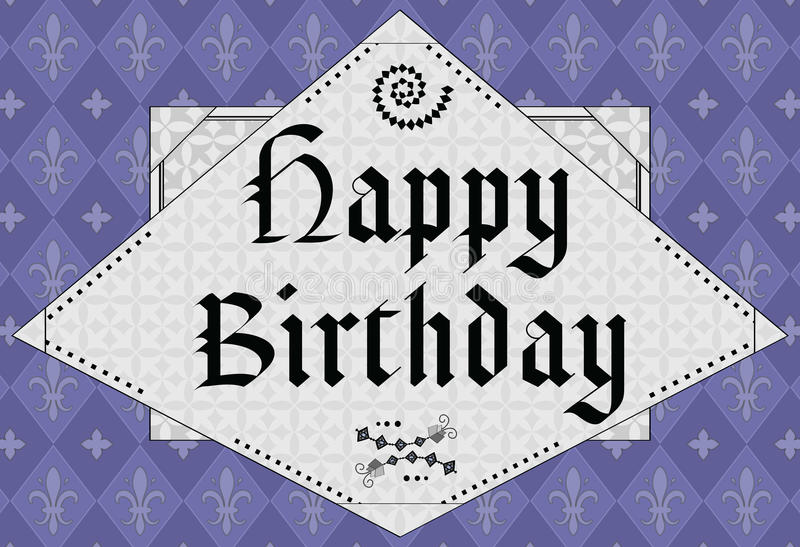 Happy Birthday - Middle Age Design Royalty Free Stock Photo