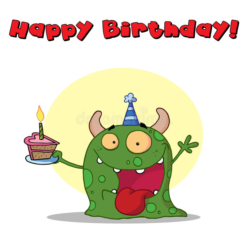 Download Happy birthday monster stock vector. Image of cake, cartoons - 15309949