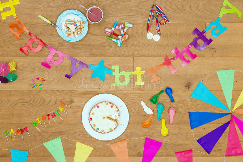 Happy Birthday party background theme royalty free stock photography