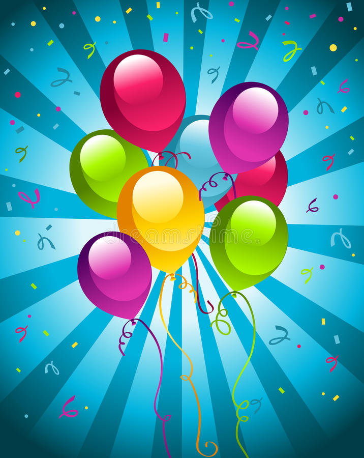 Happy Birthday Party balloons vector illustration