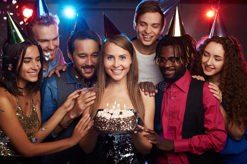 Happy birthday party stock photography