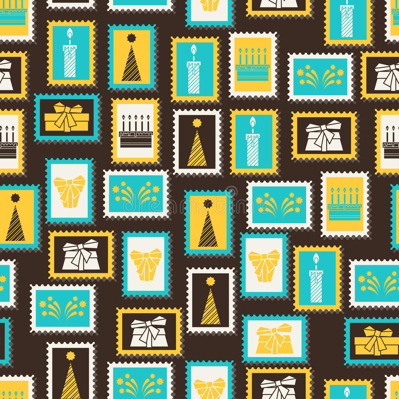 Download Happy Birthday Party Seamless Pattern Stock Photo - Image of fabric, abstract: 51137122