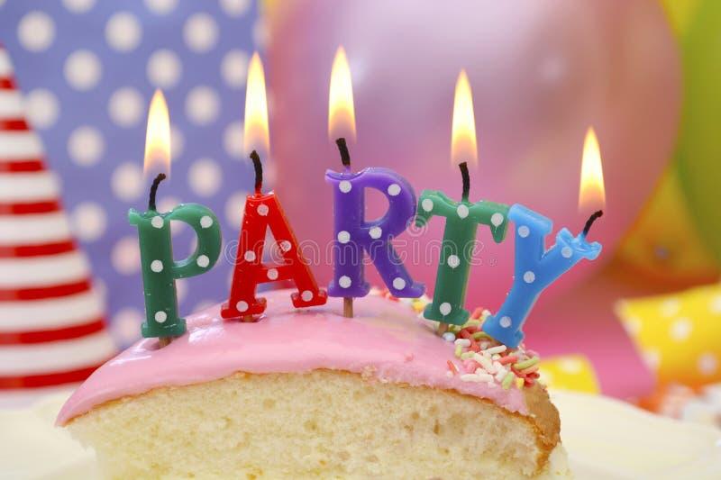 Happy Birthday Party Table stock image