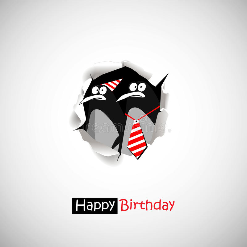 Free Happy Birthday Penguin Smile Funny Greetings Royalty Free Stock Photos - 41956118