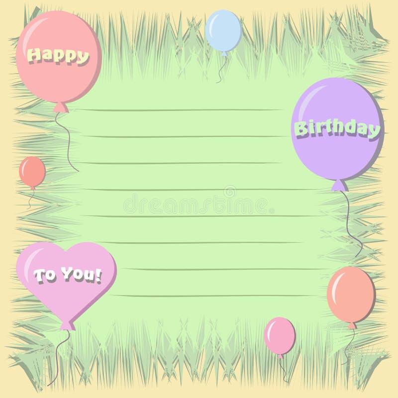 Happy Birthday Postcard stock photography