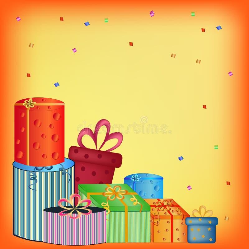 Happy birthday presents royalty free stock image