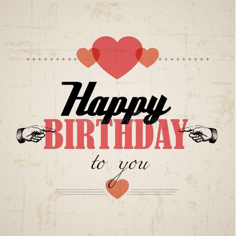 Happy Birthday Retro Vector Illustration Royalty Free Stock Image